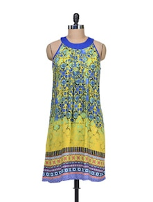 Printed Halter Dress - Global Desi