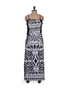 Long Dress In Printed Monochrome - AND