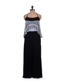 Monochrome Halter Dress - AND