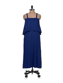 Strappy Long Dress In Royal Blue - AND