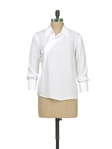 Crisp White Collared Shirt - AND