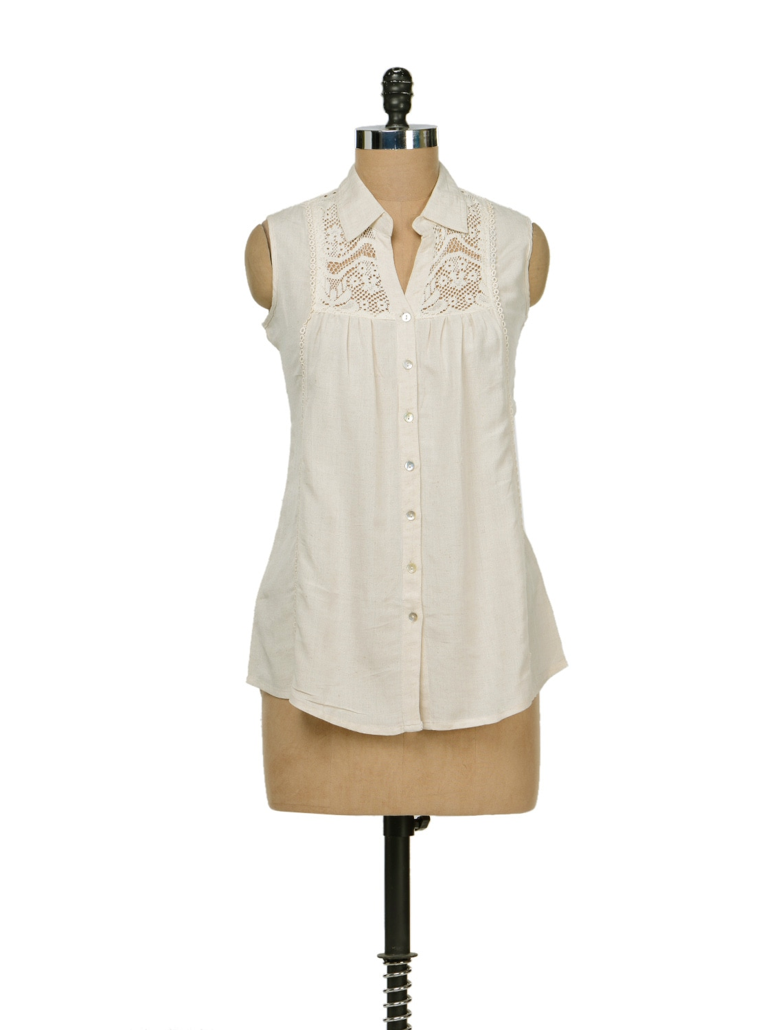 Ivory Lace Shirt - AND