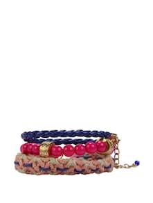 Pink & Blue Beaded Bracelet - Blueberry