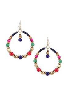 Multi-Colour Hoop Earrings - Blueberry