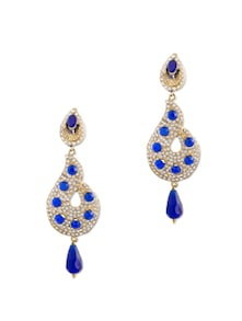 Earrings In Sparkling Blue Stones - Bazarvilla