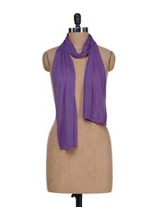 Regal Purple Scarf In Rayon - J STYLE