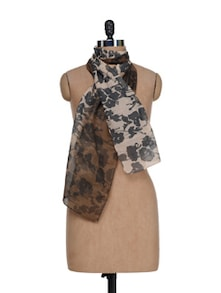 Abstract Floral Scarf - J STYLE