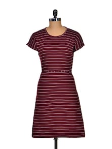 Sassy Striped Summer Dress - Color Cocktail