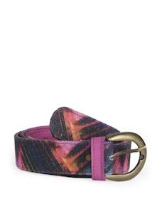 Pink Abstract Motif Belt - Jajv