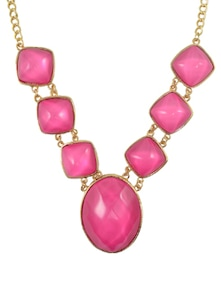 Pink Footsteps of First Night Necklace