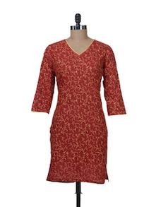 Red Fawn Printed Kurta - Nanni Creations