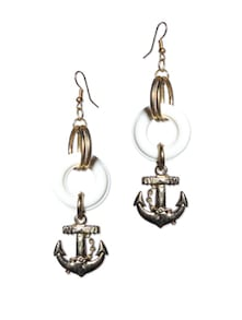 Anchor Drop Earrings - Blend Fashion Accessories
