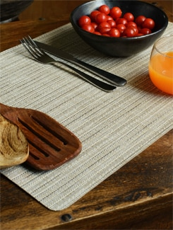 Light Brown Basket Weave Placemat (Set of 6) - Freelance