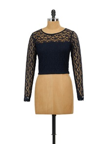 On Crop Of The World Lace Crop Top - Miss Chase