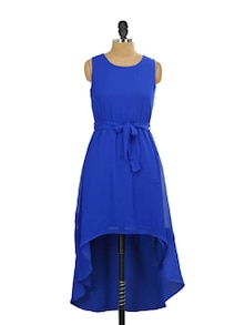Asymmetrical Dress In Royal Blue - Miss Chase