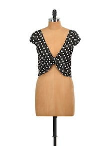 Polka Dotted Cropped Top - Miss Chase