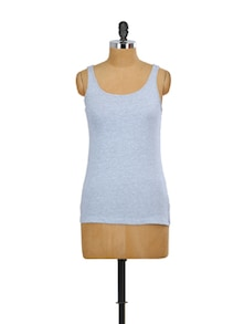 Stretch Grey Tank Top - Miss Chase