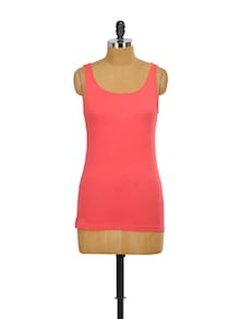 Coral Stretch Tank Top - Miss Chase