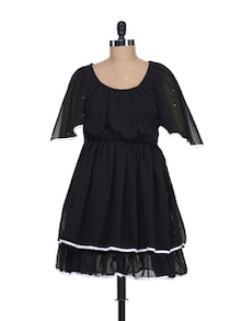 Frock Style Dress In Black - Liebemode