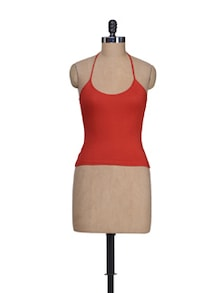 Sexy Red Halter Neck Camisole - Lady Lyka
