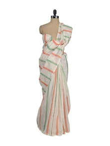 Simple Striped Saree - Aadrika Saree