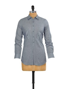 Blue And Grey Shirt - Mishka