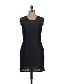 Chic Black Lace Dress - Jiiah