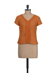 Rust Short Sleeves Shirt - Guster Ve..