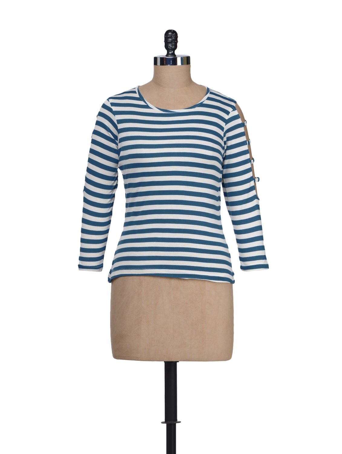 Blue & White Striped Top - Guster Ve..