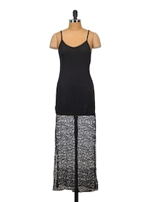 Black And White Summer Dress - Crazi Darzi