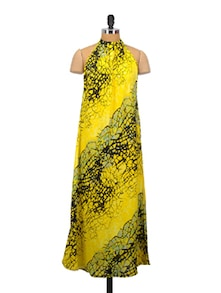Lime Yellow Beach Dress - Crazi Darzi