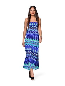 Hot And Happening Blue Dress - Crazi Darzi