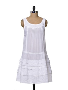 Cute White Lace Dress - House Of Tantrums