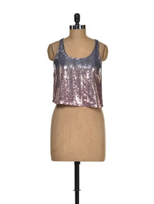 Sequined Sensation Party Top - I AM FOR YOU