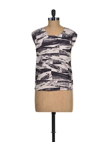 Attract Abstract Print Top - I AM FOR YOU