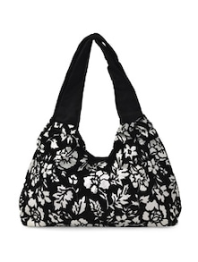 Printed Velvet And Canvas Bag - Art Forte