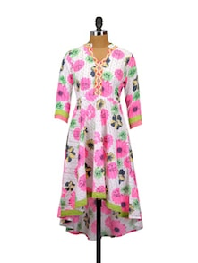 Pretty In Pink Cotton Kurta - Glam And Luxe