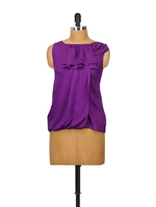 Purple Passion Rayon Top - Glam And Luxe