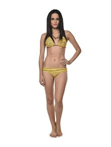 Striped Yellow Bikini - Holidae