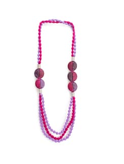 Pink and Purple Filament Frenzy Necklace - Blisscovered