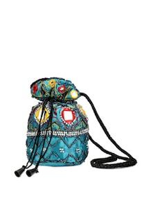 Bedazzle In Blue Potli Bag - Oleva