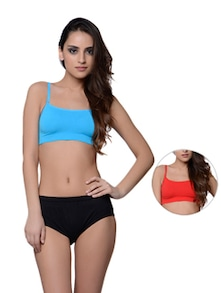 Set Of Two Seamless Cropped Camis - Cloe
