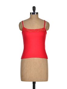 Red Lace Camisole - Cloe