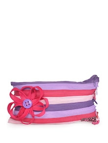 Candy Pink Floral Pouch - Use Me