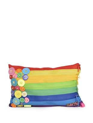 Colourful Button Embellished Pouch