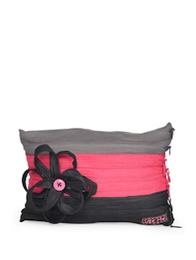 Zippered Floral Pouch In Tri Colours - Use Me