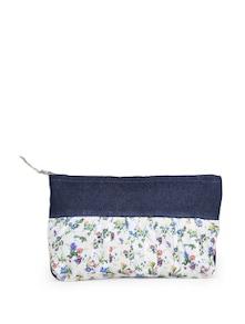 Floral Denim Pouch - Use Me
