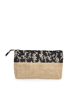 Printed Pouch In Jute - Use Me