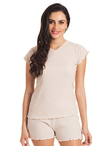 Basic Beige Sleep In Tee - Slumber Jill