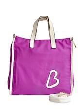 Purple And Cream Shoulder Bag - Lalana